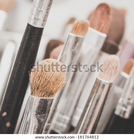 Professional makeup brush  - stock photo