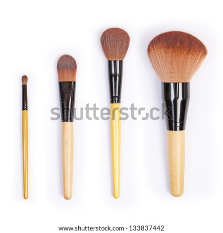 Professional makeup brush set - stock photo