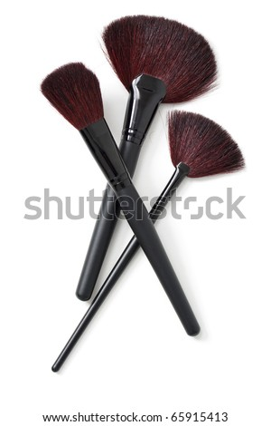 Professional makeup brushes - stock photo