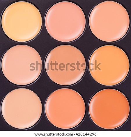 professional makeup concealer cosmetics, close up image