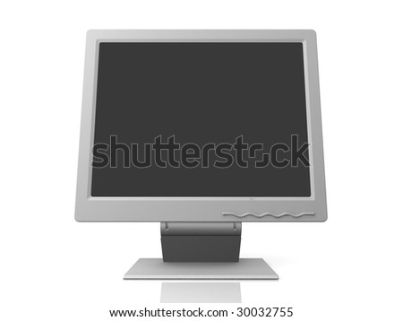 professional monitor isolated on white background with empty space - stock photo
