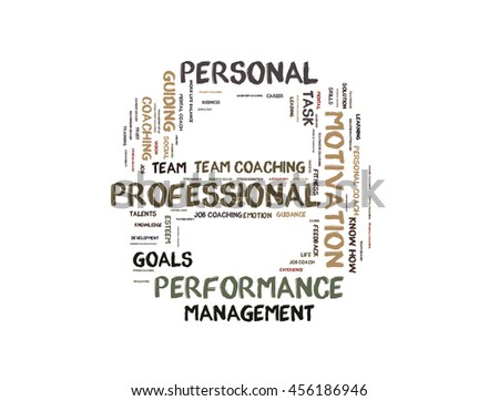 Professional performance word cloud shaped as a stop sign - stock photo