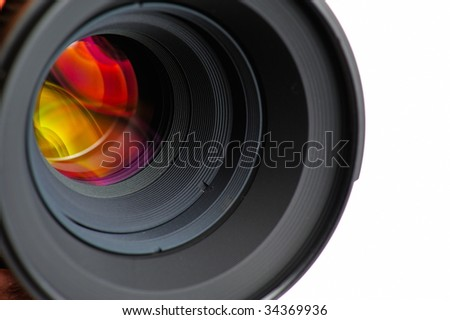 professional photo lens closeup