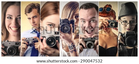 Professional photographers - stock photo