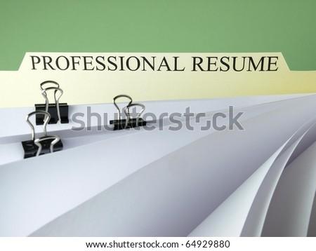 Professional Resume - stock photo