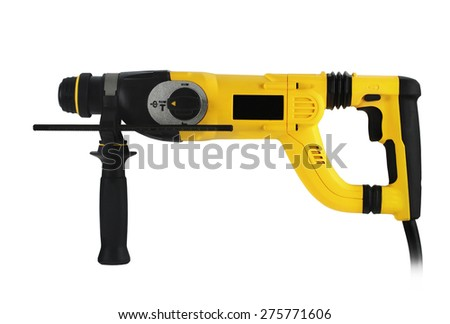 professional rotary hammer on white background