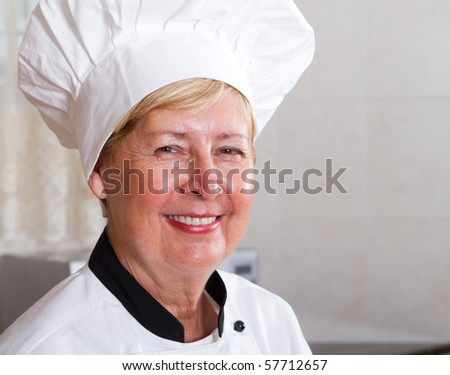 professional senior chef portrati - stock photo