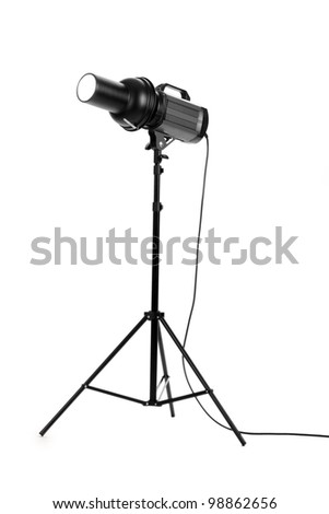 Professional studio flash isolated on white