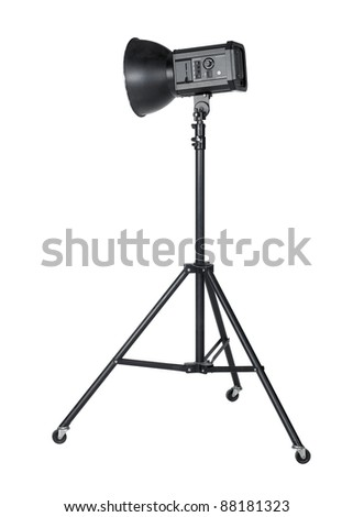 professional studio flashlight isolated on white with clipping path