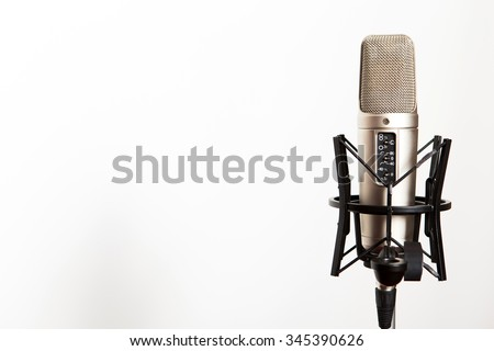 Professional studio microphone to record sound - stock photo