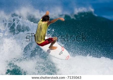 professional surfer - stock photo