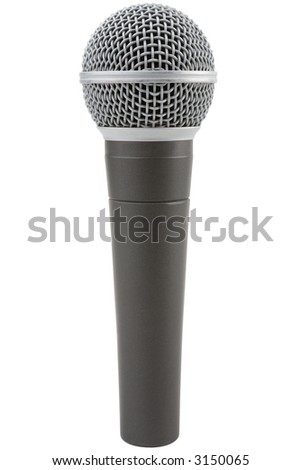 Professional vocal microphone isolated on a white background
