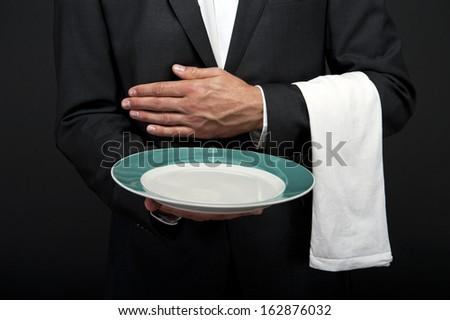 Professional waiter - stock photo