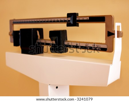 Professional Weight Scale in Doctor's Office - stock photo