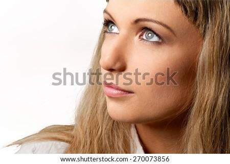Profile. Bright - stock photo