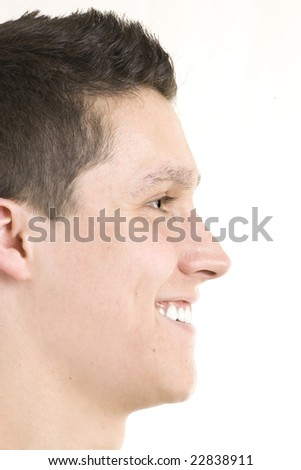 Profile head shot of a man - stock photo