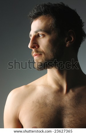 profile of a  man - stock photo