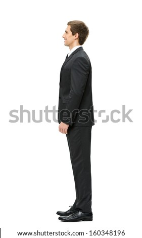 Profile of business man, isolated. Concept of leadership and success - stock photo