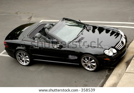 Profile of MB cabriolet coupe. - stock photo