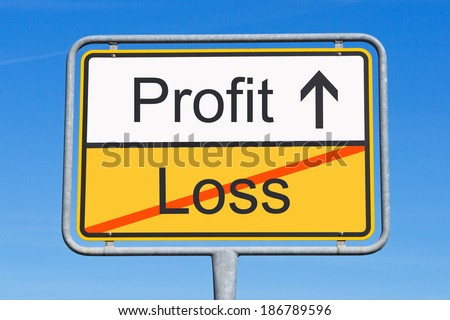 Profit and Loss - stock photo