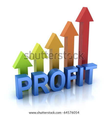 Profit colorful graph concept - stock photo