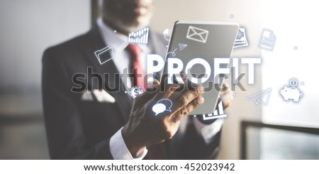 Profit Earnings Income Financial Economy Proceeds Concept - stock photo