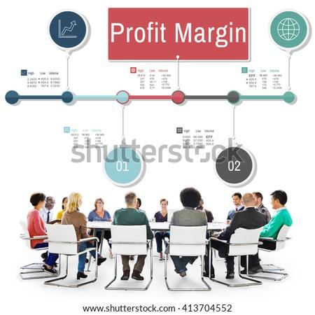 Profit Margin Finance Income Revenue Costs Sales Concept - stock photo