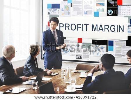 Profit Margin Payments Revenue Budget Concept - stock photo