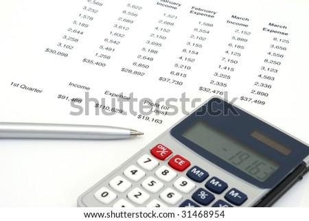 Profit or Loss Sheet - stock photo