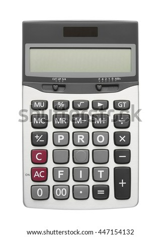 Profit text on calculator button, isolated included clipping path - stock photo
