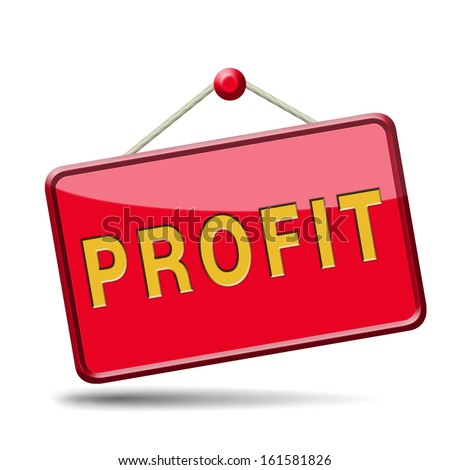 profit way to progress prosperity success and wealth financial growth profit icon profit button  - stock photo