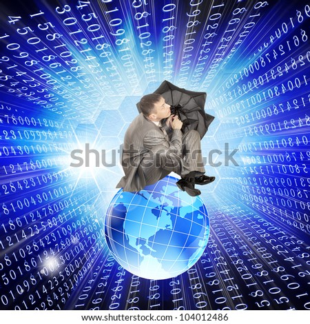 Prognosis internet safety upon future and risk  programming virus - stock photo