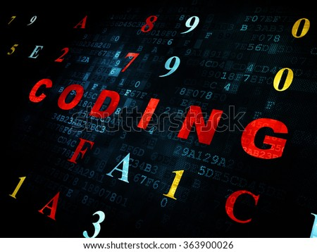 Programming concept: Coding on Digital background - stock photo