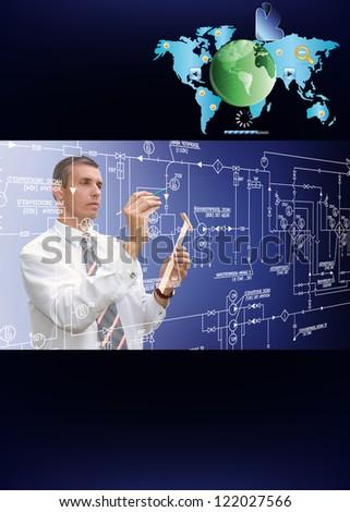 Programming creative design individual website your company - stock photo