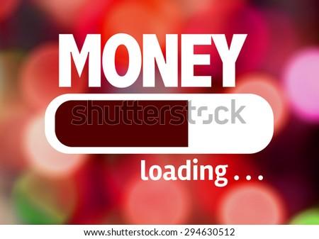 Progress Bar Loading with the text: Money - stock photo