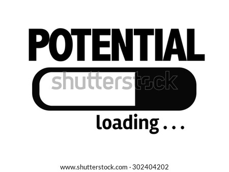 Progress Bar Loading with the text: Potential - stock photo