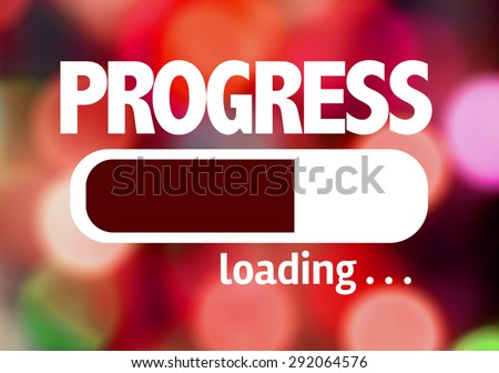 Progress Bar Loading with the text: Progress - stock photo