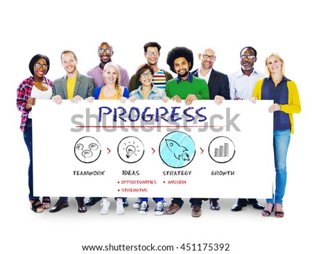 Progress Business Plan Growth Strategy Concept