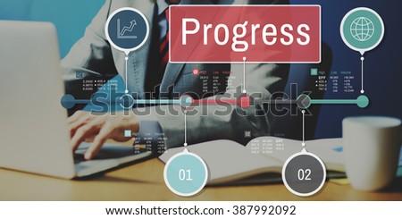 Progress Improvement Investment Mission Concept - stock photo