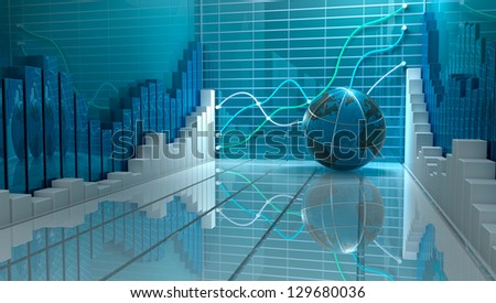 Progress in business abstract background - stock photo