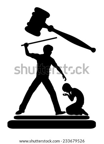 Prohibit Corporal Punishment. Cruelty to children must be banned by law - stock photo