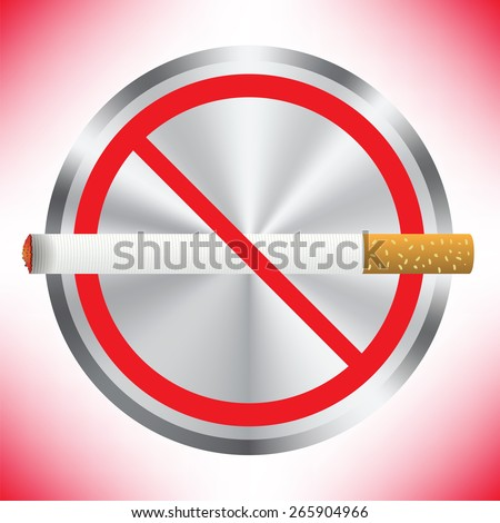 Prohibition sign on red background. No smoking sign. Sign showing no smoking is allowed. No smoking mark. Smoking prohibited symbol isolated on red background. - stock photo