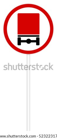 Prohibitory traffic sign isolated on white 3D illustration - The movement of dangerous cargo