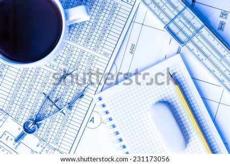 Project development, a break to think about new ideas - stock photo