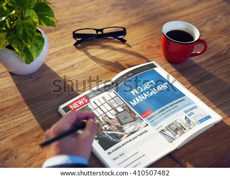 Project Management Organization Planning Process Concept - stock photo