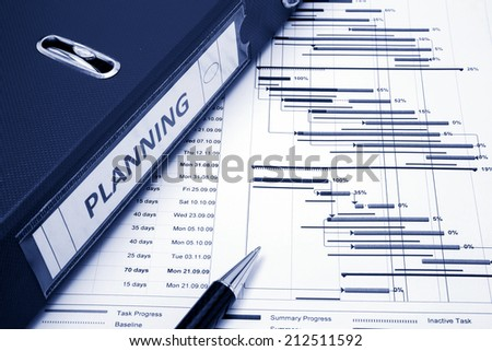 Project management - Project planning concept - stock photo
