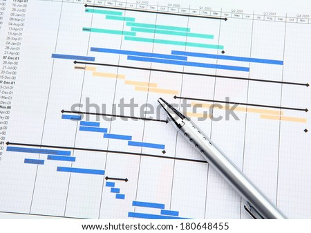 Project Management Gantt Chart Stock Photo Royalty Free