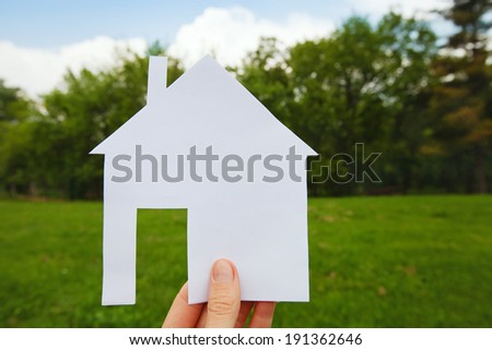 project of house, real estate concept - stock photo