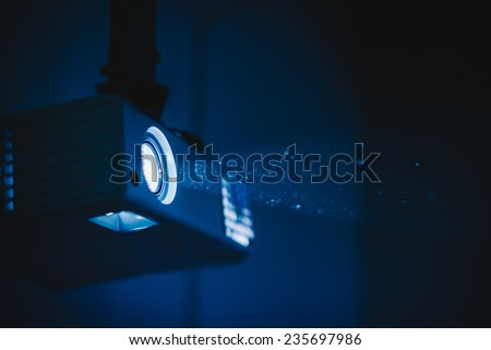 projection and visualization - stock photo