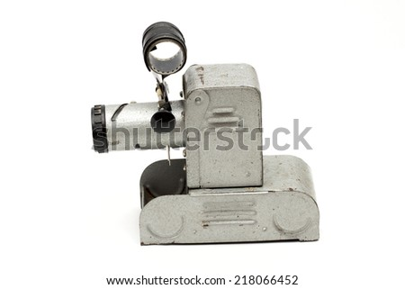 projector on the white background - stock photo